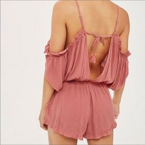 Topshop rose colored  romper size small